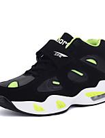 Femme-Extérieure / Sport-Noir / Orange / Noir et blanc-Talon Plat-Confort-Chaussures d'Athlétisme-Daim / Polyuréthane