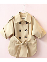 Girl's Casual/Daily Solid Suit & BlazerCotton Spring / Fall Pink / Beige
