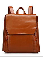 Women PU Casual Backpack Brown