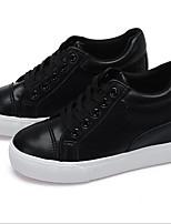 Damen-Sneaker-Outddor Lässig Sportlich-Leinwand-Keilabsatz-Andere-Schwarz Weiß