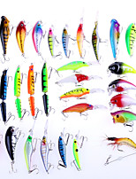 30 pcs Hard Bait / Soft Bait / Crank / Popper / Fishing Lures Soft Bait / Craws / Shrimp / Crank / Popper phantom / Random Colors 8 g