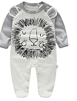 Baby Casual/Daily Animal Print Clothing Set-Cotton-Spring / Fall-Gray
