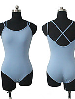 Cotton/Lycra Double Straps Cross Back Camisole Leotard Ballet Dancewear More Colors for Girls and Ladies