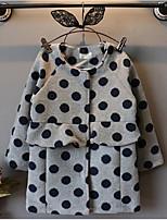 Girl's Casual/Daily Polka Dot Hoodie & SweatshirtNylon Winter / Spring / Fall Gray