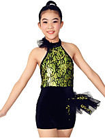 Dresses Performance Spandex / Paillettes / Lace / Ruffles / Sequins 2 Pieces Ballet Sleeveless NaturalDress / Hair