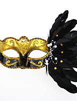 1PC Feather Mask For Halloween Costume Party Random Color