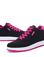 Women's Sneakers Spring Fall Mary Jane Synthetic Outdoor Casual Flat Heel Lace-up Black Blue Pink Walking