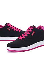 Черный / Синий / Розовый-Женский-Для прогулок / На каждый день-Синтетика-На плоской подошве-Туфли Мери-Джейн-Кеды