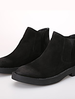 Men's Boots Comfort Cowhide Casual Black Brown