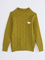 Girl Casual/Daily Solid Sweater & Cardigan,Cotton Fall Long Sleeve Regular