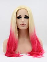 Sylvia синтетический парик фронта шнурка светлые розовые волосы ломбера жаропрочные длинные прямые синтетические парики