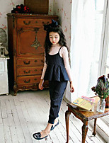 Girl's Casual/Daily Striped Clothing SetCotton Spring / Fall Blue / Red
