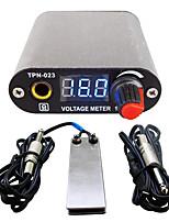 Solong tattoo New LCD Digital Tattoo Power Supply Foot Pedal  Clip Cord Kit P168-4