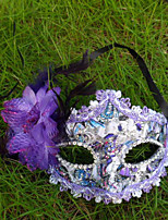 1PC Stick The Cloth Mask For Halloween Costume Party Random Color