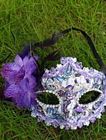 1pc coller le masque de tissu pour costume de halloween couleur aléatoire