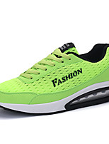 Women's Athletic Shoes Spring / Fall Comfort Tulle Athletic Flat Heel Lace-up Black / Light Green / Royal Blue Sneaker