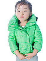 Girl's Casual/Daily Solid Down & Cotton PaddedCotton Fall Green / Pink / Red