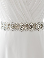 Satin Wedding / Party/ Evening / Dailywear Sash - Sequins / Beading / Appliques / Crystal / Rhinestone Women's Sashes