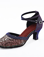 Customizable Women's Dance Shoes Synthetic Modern Heels Customized Heel Indoor / Performance Black / Purple / Gold