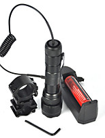 2500Lm XML-T6 LED 5Mode Mount Flashlight Torch Bycicle Light 18650 Remote Switch (Complete With Battery Charger)