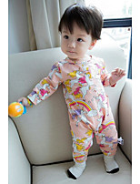 Baby Casual/Daily Print Overall & JumpsuitCotton Spring Blue / Pink