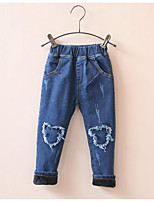 Girl's Casual/Daily Solid Pants / JeansCotton Winter Blue