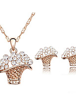 Thousands of colors Jewelry Necklaces / Earrings Jewelry set Crystal Fashion Daily 1set Women -5253