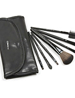 7 Makeup Brushes Set Weasel / Others / Badger Professional / Portable Wood Face / Eye / Lip