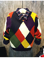 Boy's Casual/Daily Patchwork Sweater & CardiganAcrylic Spring / Fall Black / Multi-color
