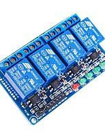 4-канальный модуль 5v оптоизолятора реле триггер высокого уровня - синий
