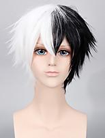monokuma noir de cosplay et de couleur blanche courte coiffure Halloween cosplay hommes perruques perruques custome de mode du parti