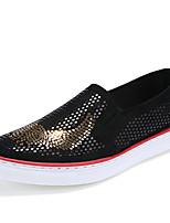 Серебристый Золотистый-Мужской-Повседневный-Кожа-На плоской подошве-Удобная обувь-Мокасины и Свитер