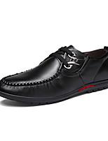Черный Синий Коричневый-Мужской-Повседневный-Полиуретан-На плоской подошве-Удобная обувь-Туфли на шнуровке