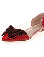 Women's Sandals Summer Comfort PU Dress Flat Heel Bowknot Black / Pink / Red / Gray Others