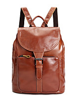 Women Cowhide Formal / Casual / Event/Party Backpack Brown