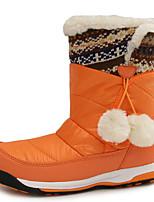 Коричневый / Красный / Оранжевый-Для девочек-Для прогулок / На каждый день-Мех-На плоской подошве-Удобная обувь-Ботинки