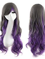 lolita perruque inspirée par couleur mixte perruques synthétiques noir et violet