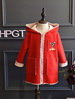 Girl's Casual/Daily Solid Trench CoatCotton / Rayon Winter / Spring / Fall Pink / Red / Yellow