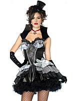 Cosplay Kostüme Zauberer/Hexe Film Cosplay Schwarz einfarbig Kleid / Hut Halloween / Karneval Frau Polyester