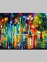 Handgemalte Abstrakt / Abstrakte Landschaft Ölgemälde,Modern Ein Panel Leinwand Hang-Ölgemälde For Haus Dekoration