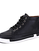 Men's Boots Spring / Summer / Fall / Winter Comfort Leather Office & Career / Casual Flat Heel Lace-up Black / Brown / Gray Others