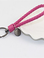 Hand Woven Leather Rope Key Ring Automobile Key Chain