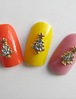 10Pcs Nail Art Act The Role Ofing Is Tasted Series Metal Christmas 3 D Christmas Tree Set Auger