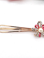 Women Gold Plated / Alloy / Rhinestone / Imitation Pearl Hair Clip,Vintage / Party / Work / Casual