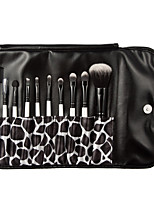 10 Makeup Brushes Set Synthetic Hair Professional / Portable Wood Face / Eye / Lip
