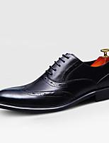 Men's Oxfords Fall Comfort Cowhide Casual Black Brown Burgundy
