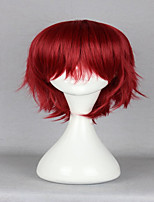 Anime Q brother Detective Inaba Inaba Hiroshi Classical Red 32 CM Short Straight Sexy Cosplay Wig