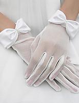 Até o Pulso Meio Dedo Luva Tule Luvas de Noiva Primavera Verão Outono Inverno Laço