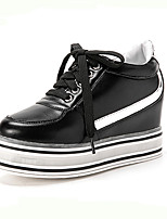 Women's Sneakers Spring / Fall / Winter Comfort Leatherette Outdoor / Athletic / Casual Flat Heel Lace-up Black