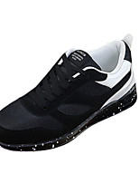 Men's Sneakers Spring Fall Comfort Fabric Athletic Flat Heel Lace-up Blue Black and Red Black and White